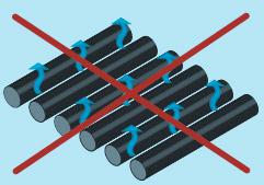 tubes solaires séparés avec perte de chaleur