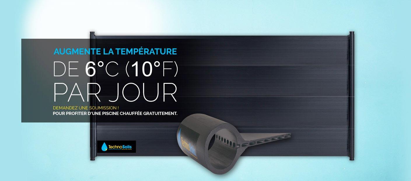 Chauffe piscine capteur solaire technosolis for Toile solaire piscine prix